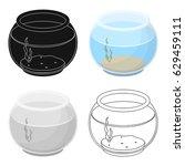 aquarium with water.pet shop... | Shutterstock .eps vector #629459111