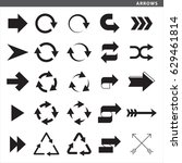 set of arrows with different... | Shutterstock .eps vector #629461814
