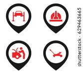 maintenance icon. set of 4... | Shutterstock .eps vector #629463665
