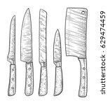 knives illustration  drawing ... | Shutterstock .eps vector #629474459