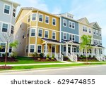 street of new town homes | Shutterstock . vector #629474855