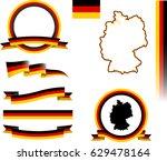 germany banner set. vector... | Shutterstock .eps vector #629478164