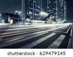 traffic through the modern city | Shutterstock . vector #629479145