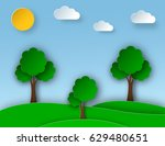 sunny nature landscape with... | Shutterstock .eps vector #629480651