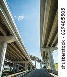 highway motorway viaduct... | Shutterstock . vector #629485505