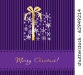 christmas card with gift box... | Shutterstock .eps vector #62949214