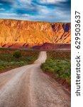 Gravel Road Through The Desert...