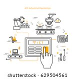 fourth industry line icon | Shutterstock .eps vector #629504561