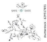 template rustic wedding... | Shutterstock .eps vector #629517851