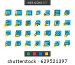 web icons vector set. user... | Shutterstock .eps vector #629521397