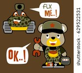 cute little bear the military... | Shutterstock .eps vector #629522531