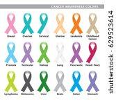 set of eighteen awareness... | Shutterstock .eps vector #629523614