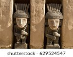 small statues at the onsite...   Shutterstock . vector #629524547