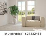 white room with armchair and... | Shutterstock . vector #629532455