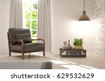 white room with armchair and... | Shutterstock . vector #629532629