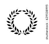 laurel wreath black sign.... | Shutterstock .eps vector #629538995