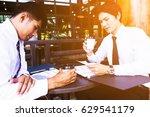 businessman discussing ... | Shutterstock . vector #629541179