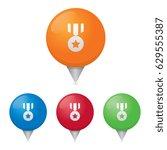 medal map markers | Shutterstock .eps vector #629555387