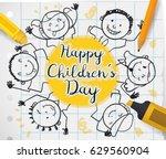 poster with school supplies ... | Shutterstock .eps vector #629560904