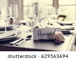 reserved service elegance...   Shutterstock . vector #629563694