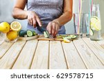 healthy lifestyle  healthy food.... | Shutterstock . vector #629578715