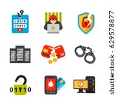 internet security safety icon... | Shutterstock .eps vector #629578877