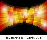 orange abstract poster. vector... | Shutterstock .eps vector #62957995