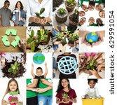 environment responsible green... | Shutterstock . vector #629591054