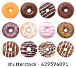 Donuts Set Isolated On White...