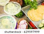 classic lime original margarita ... | Shutterstock . vector #629597999