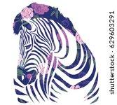 zebra animal  vector ... | Shutterstock .eps vector #629603291