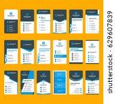 set of modern vertical business ... | Shutterstock .eps vector #629607839