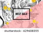 sale poster. black and white... | Shutterstock .eps vector #629608355
