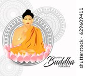illustration of buddha purnima... | Shutterstock .eps vector #629609411