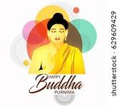 illustration of buddha purnima...   Shutterstock .eps vector #629609429