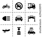 transport icon. set of 9... | Shutterstock .eps vector #629610095