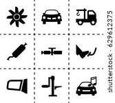 car icon. set of 9 car filled... | Shutterstock .eps vector #629612375