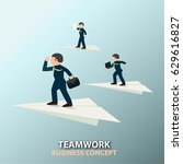 business is about moving... | Shutterstock .eps vector #629616827
