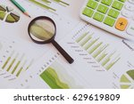many charts and graphs with...   Shutterstock . vector #629619809