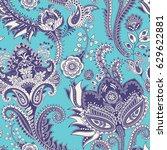 seamless pattern. indian floral ... | Shutterstock . vector #629622881