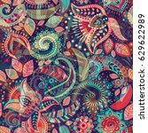 seamless floral pattern.... | Shutterstock . vector #629622989