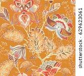 spring floral seamless pattern. ... | Shutterstock . vector #629623061