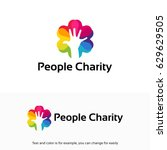 people charity logo  helping ... | Shutterstock .eps vector #629629505
