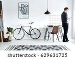 modern  white home interior... | Shutterstock . vector #629631725