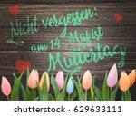 reminder mother's day in german ... | Shutterstock . vector #629633111