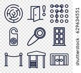 entrance icons set. set of 9... | Shutterstock .eps vector #629634551
