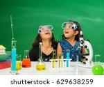 2 cute little indian girls... | Shutterstock . vector #629638259