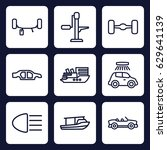 transport icon. set of 9... | Shutterstock .eps vector #629641139