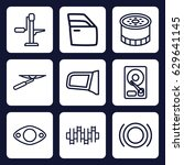 part icon. set of 9 outline... | Shutterstock .eps vector #629641145