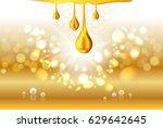 golden yellow honey light shiny ... | Shutterstock .eps vector #629642645